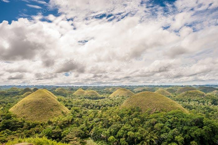 Chocolate hills landscape at Philippines