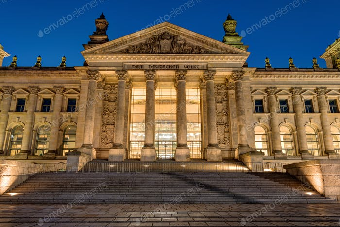 Detail of the Reichstag in Berlin