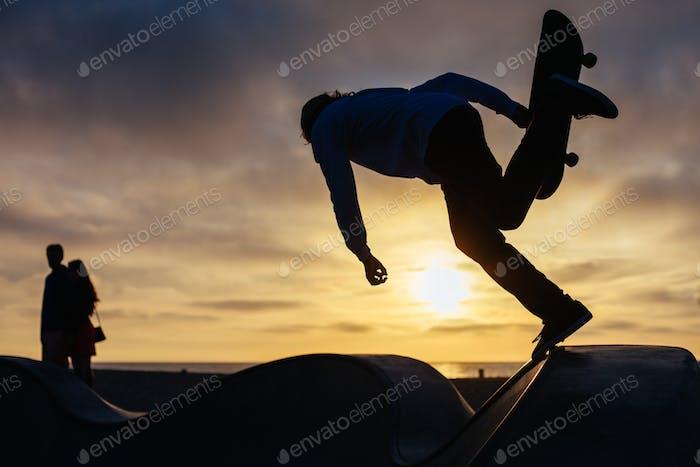 Skateboarder in Venice Beach Los Angeles