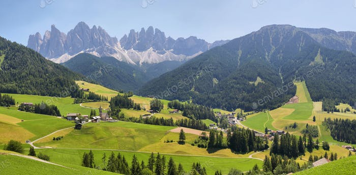 Mountain views near Santa Magdalena, Val di Funes, Dolomite Alps, Italy