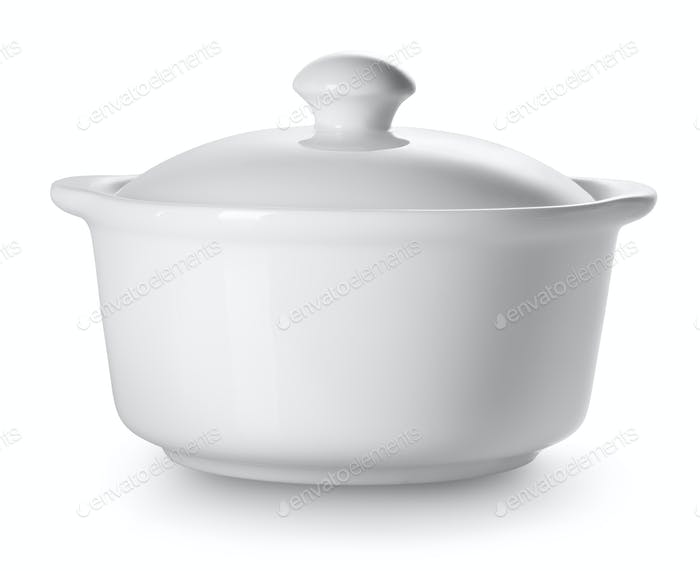 Small ceramic tureen