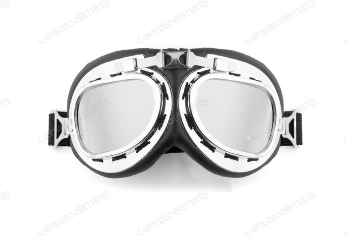 Pilot glasses isolated on white