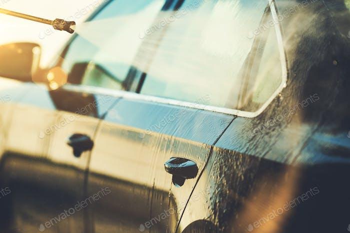 Car Cleaning Closeup Photo