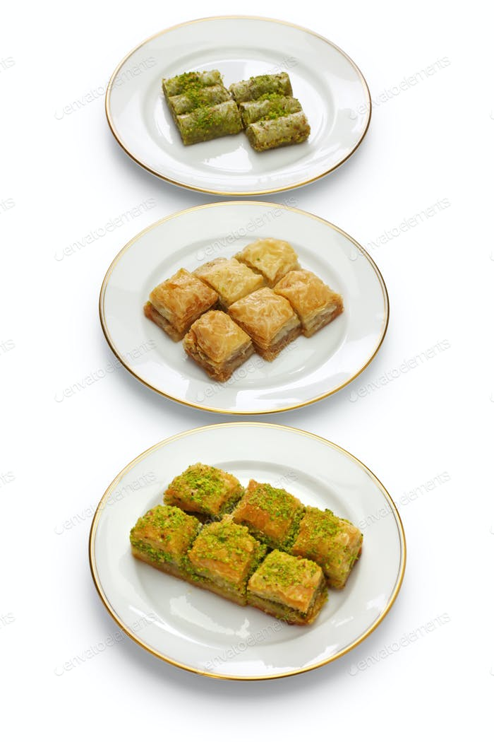 baklava, turkish traditional desserts