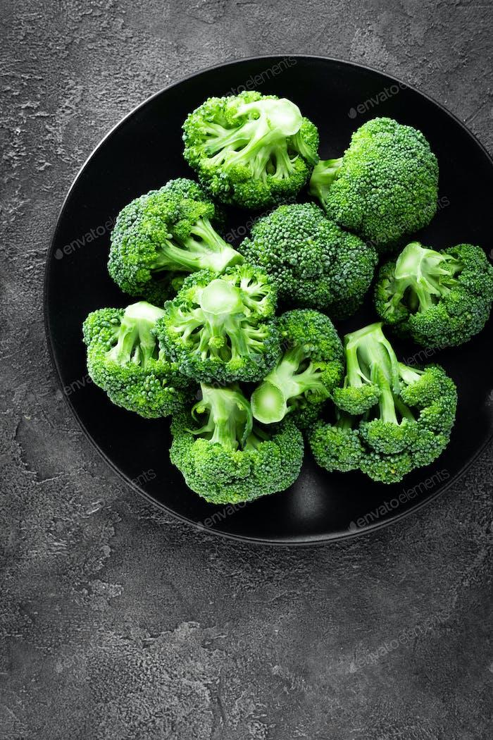 Broccoli. Fresh broccoli on plate