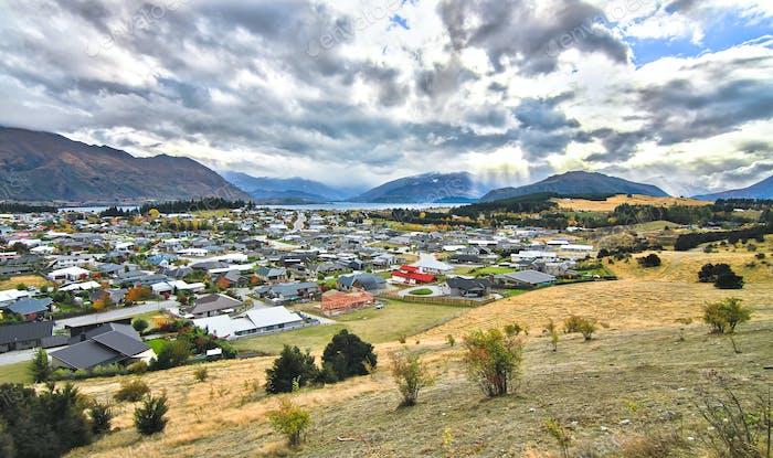 Town of Wanaka in New Zealand
