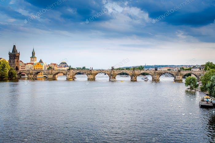 Karlsbrücke in Prag, Tschechische Republik