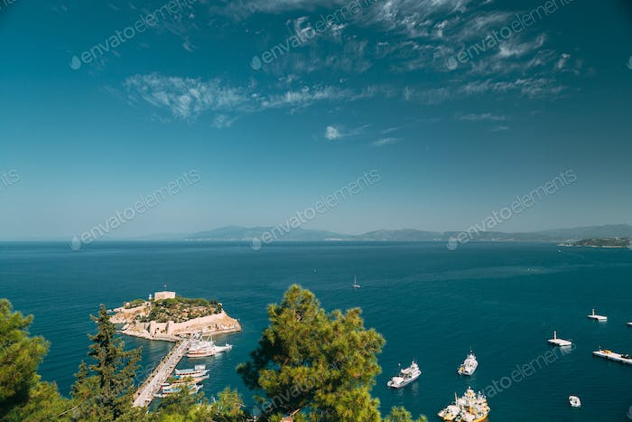 Kusadasi, Aydin Province, Turkey. Top View Of The Pigeon Island.