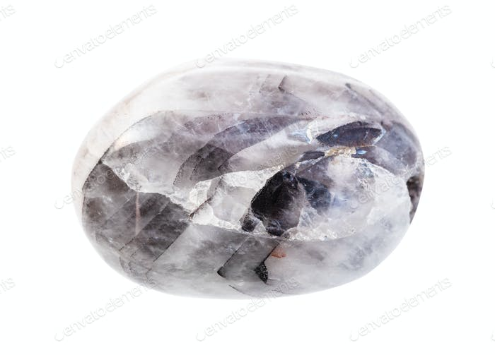 olished Amethyst quartz gem stone isolated