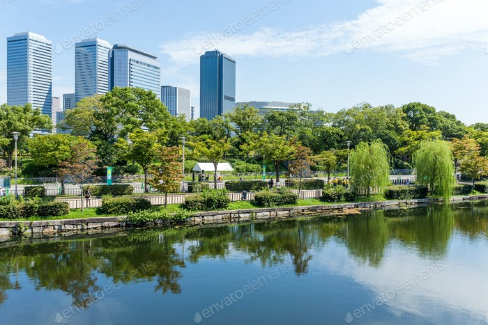 Geschäftsviertel in Osaka