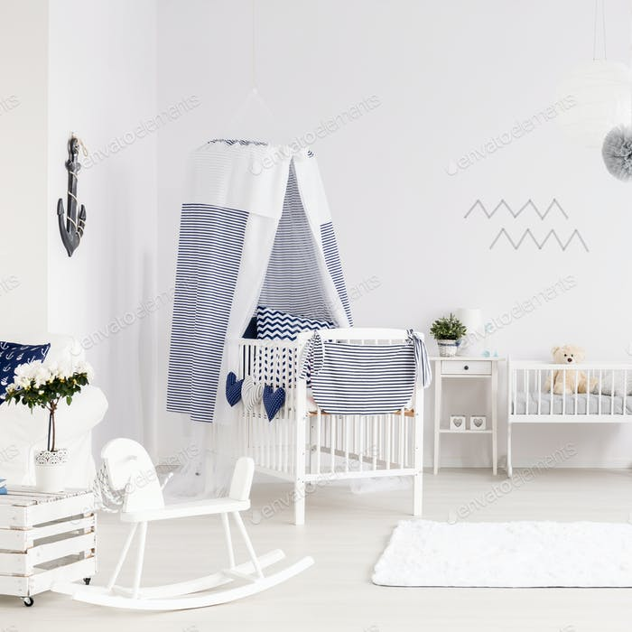 Baby room in marine style