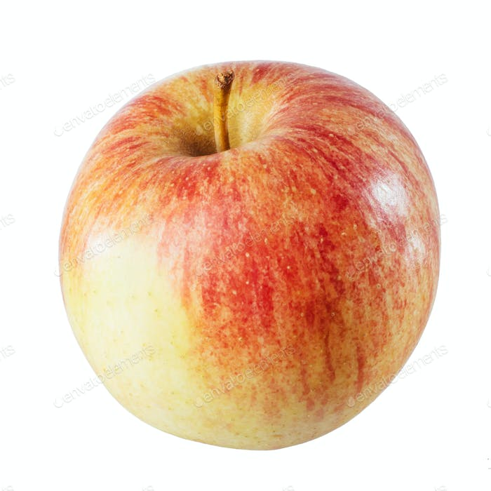 Beautiful red apple on a white background.