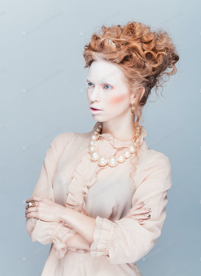 Fashion portrait in style of Maria Antuanetta