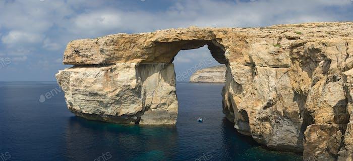 Azure Window Panorama, Malta