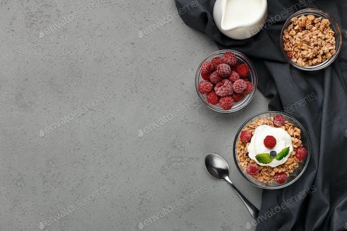 Vegetarian breakfast concept