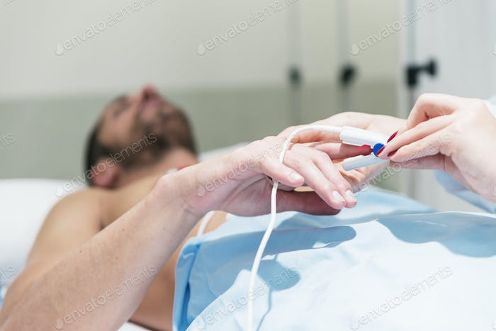 ECG electrodes on the patient