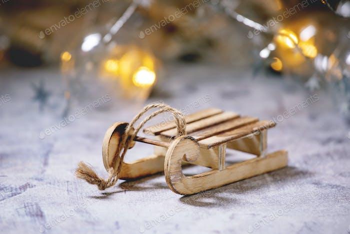 Weihnachten Spielzeug Schlitten