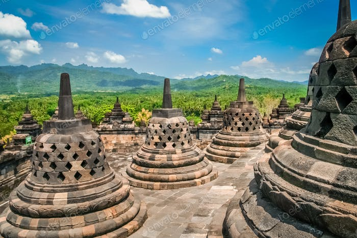 Borobudur Temple in Java