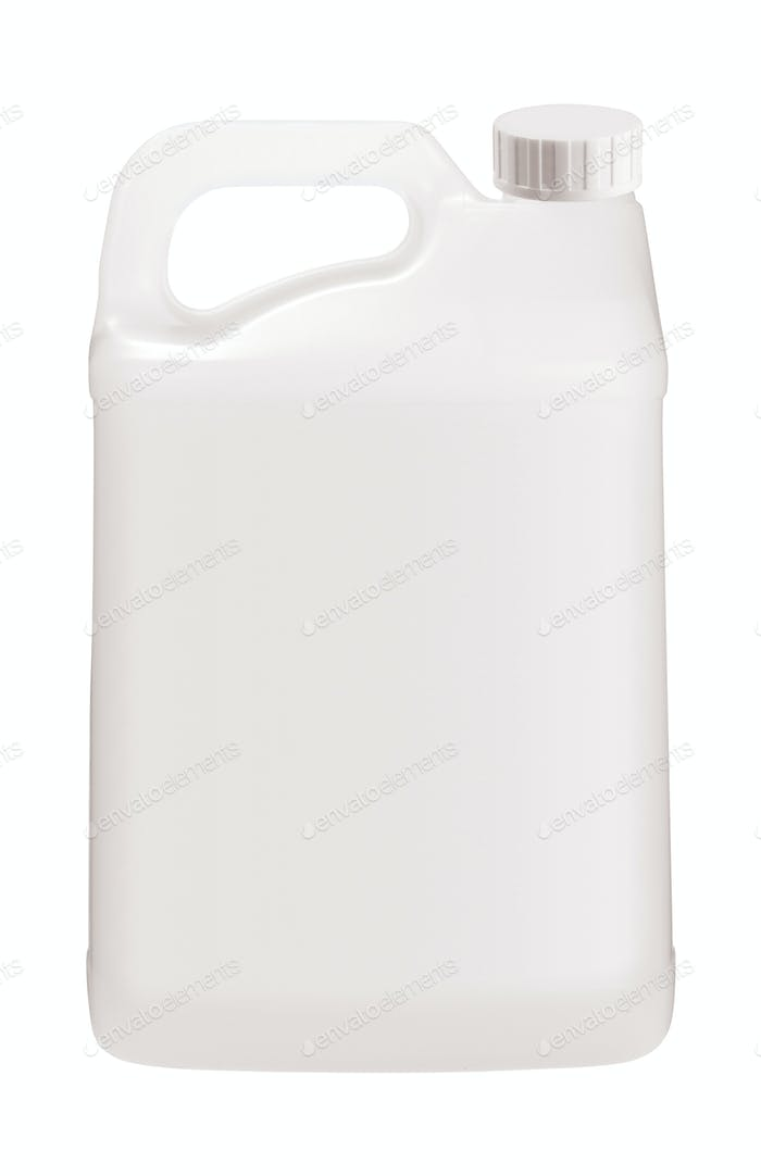 White plastic jerrycan on white