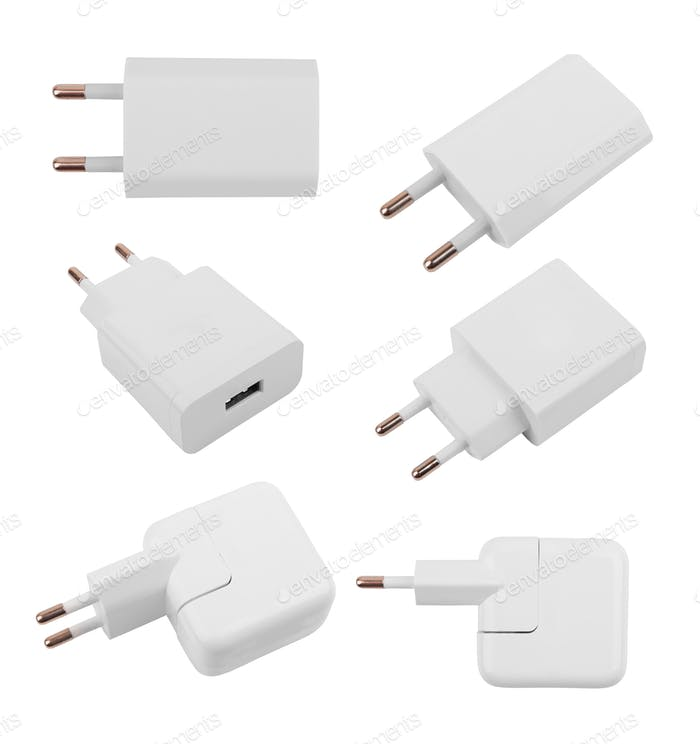 Charger on white
