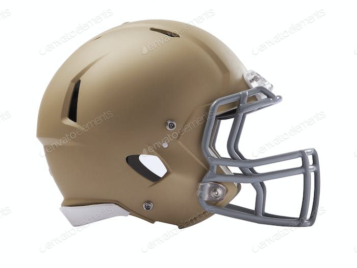 Modern football helmet isolated on a white background