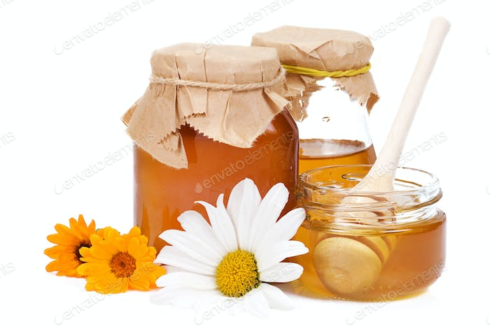 honey and flowers