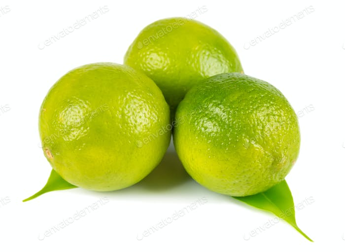 Three fresh lime