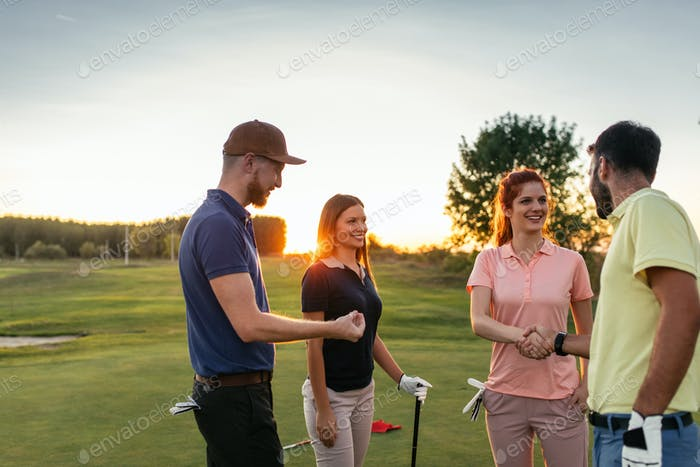 Getting together for few rounds of golf