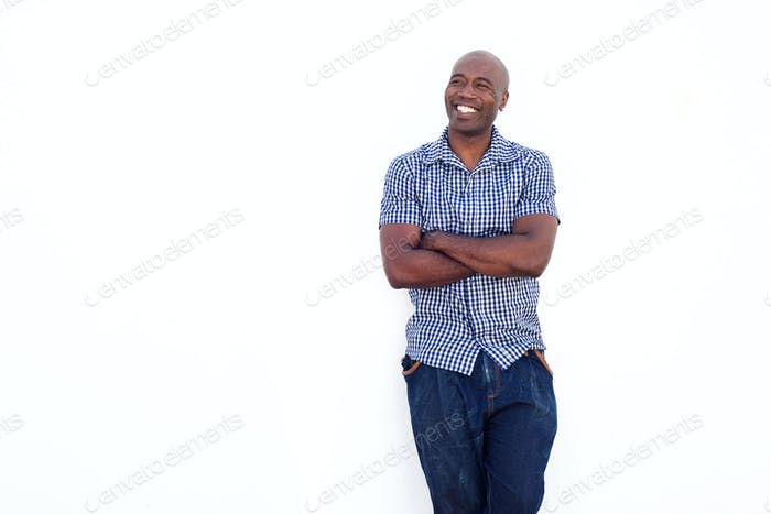Confident african man smiling