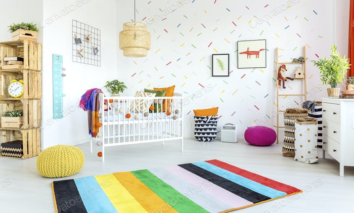 Modern baby room