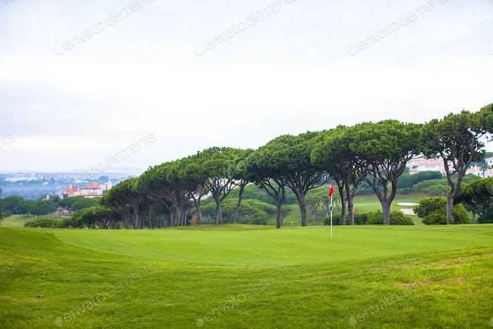 Landschaft des Golffeldes