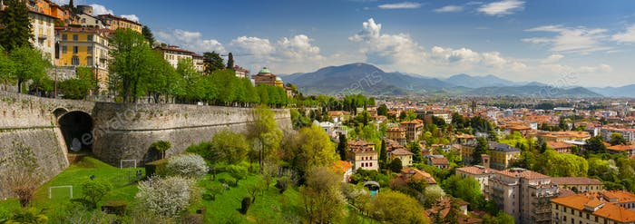 Panoramic View of Bergamo, Italy
