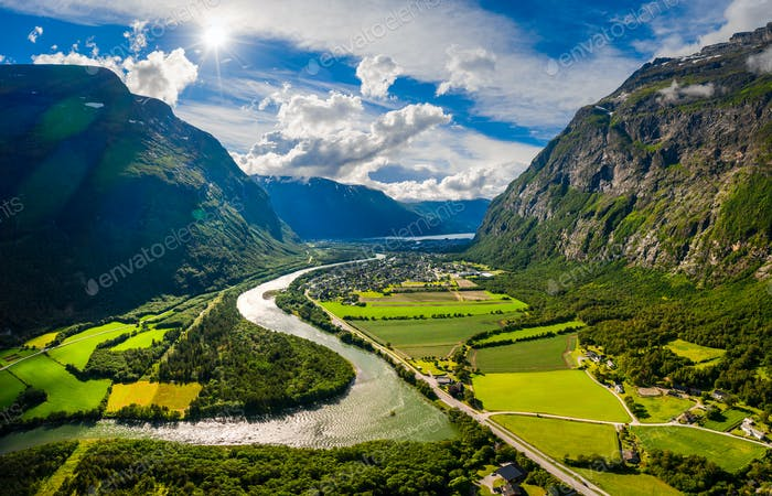 Thumbnail for Beautiful Nature Norway natural landscape.