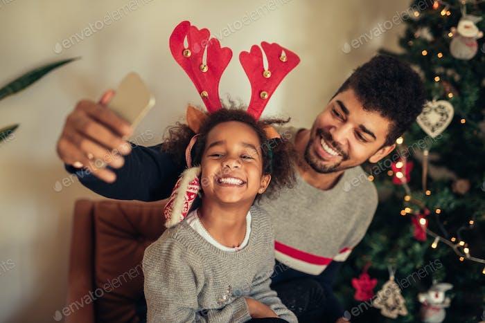 Selfie con papá