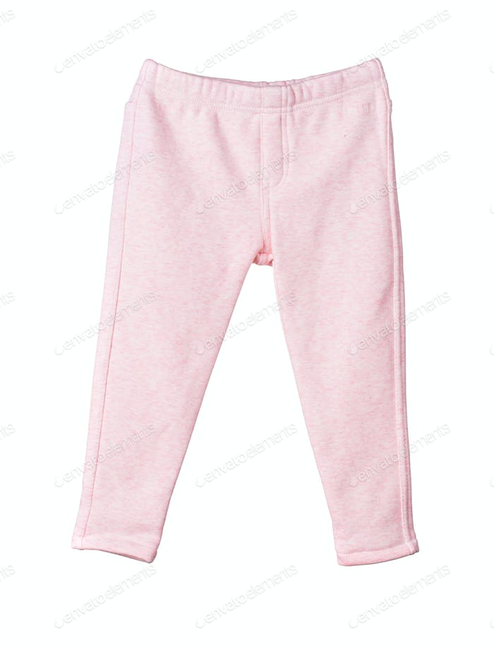Childrens pink pants.