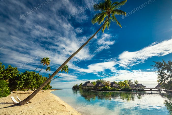 Tropisches Resort mit fantastischer Lagune auf Moorea, Französisch-Polynesien
