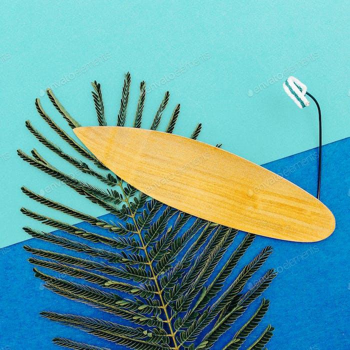 Surfing time  minimal art design