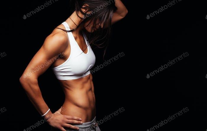 Fitness model in sportswear