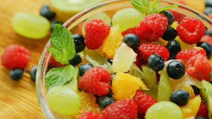 Fresh mix of fruit and berry