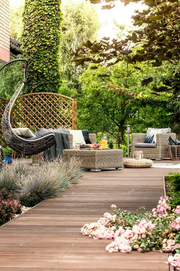Terrace in relaxing resort