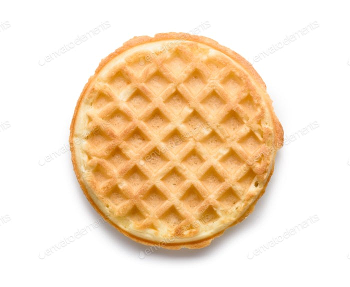 waffle isolated on white