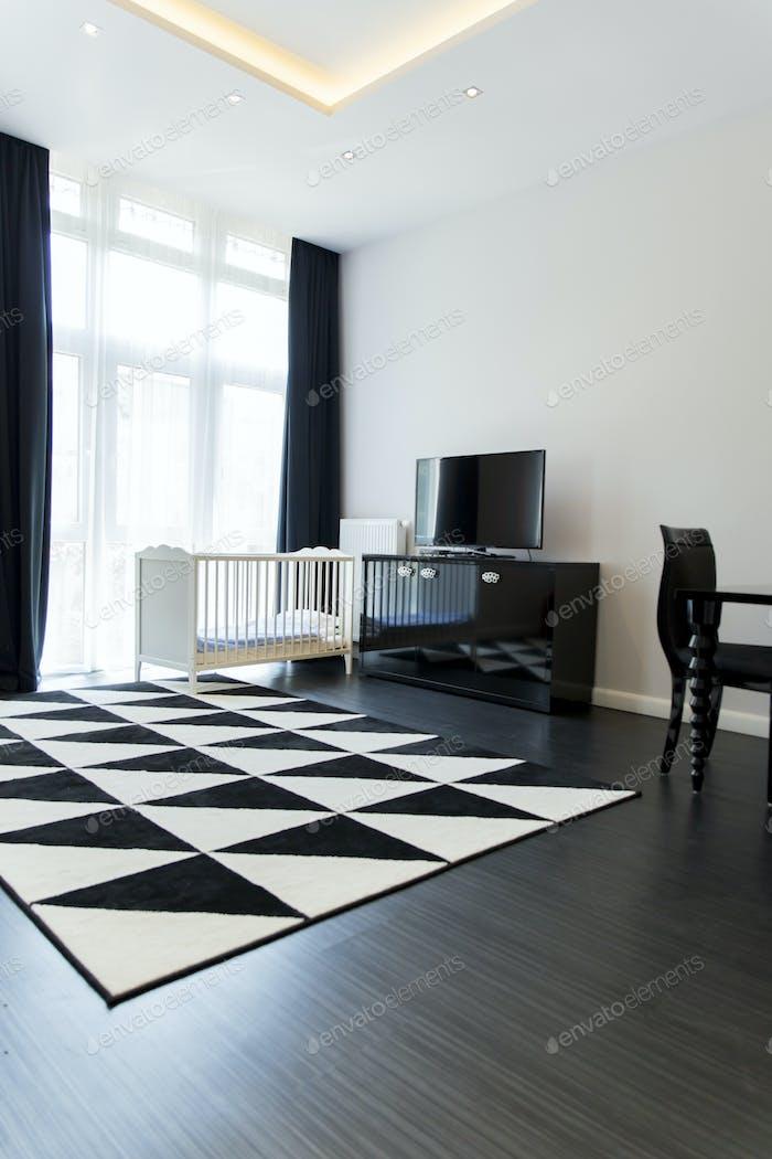Habitación limpia y limpia