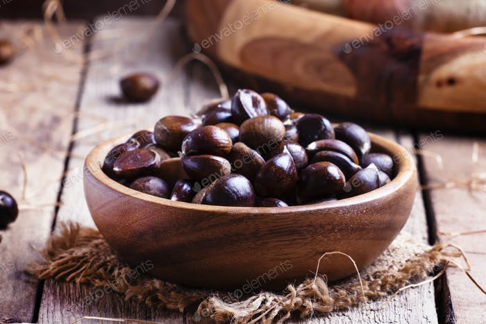 Chestnuts in bowl