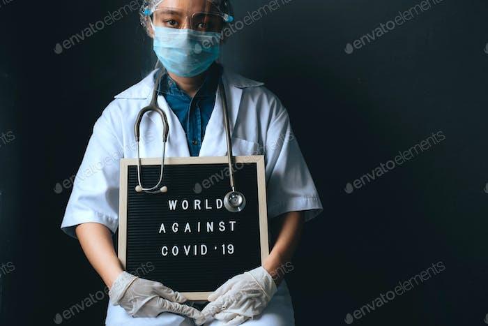 Sad Woman Doctor During Corona Virus Pandemic Season