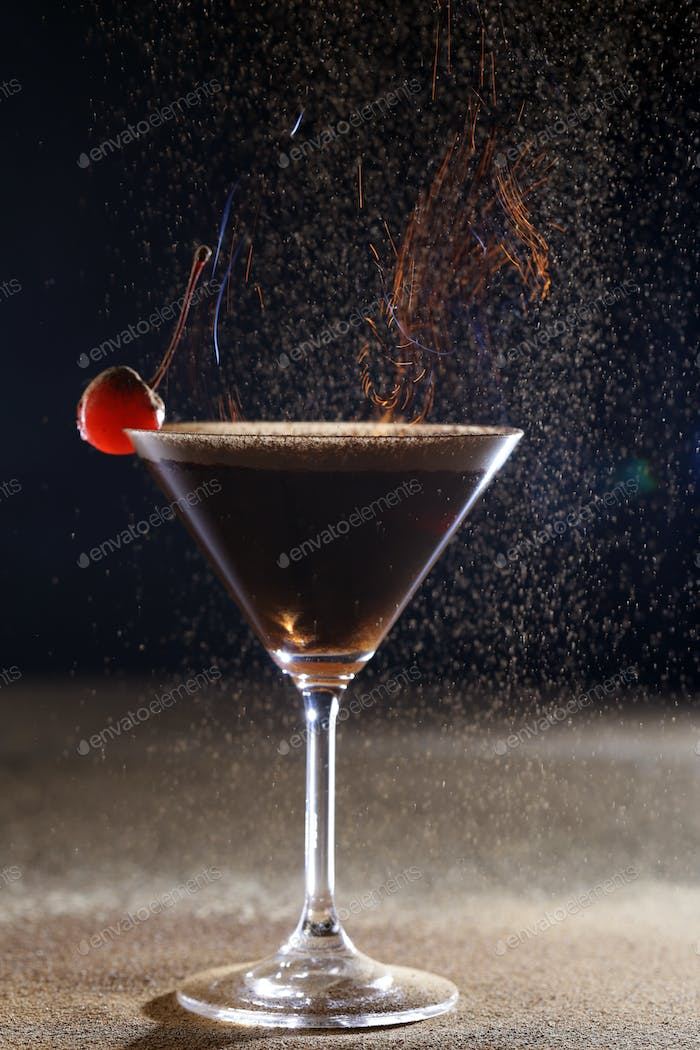 Martini Glass with a Cherry