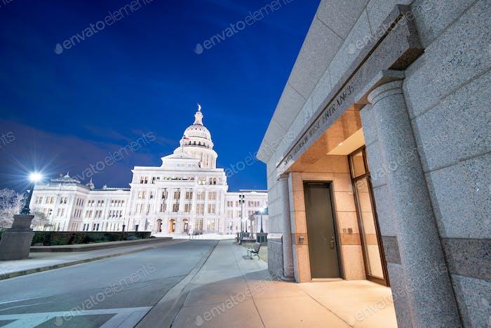 Austin, Texas, USA am Texas State Capitol