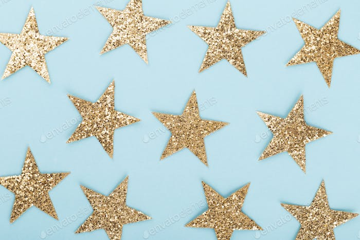 Christmas Background with Shining Stars.