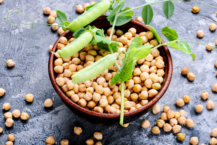 Chickpeas, the basis of vegetarian cuisine