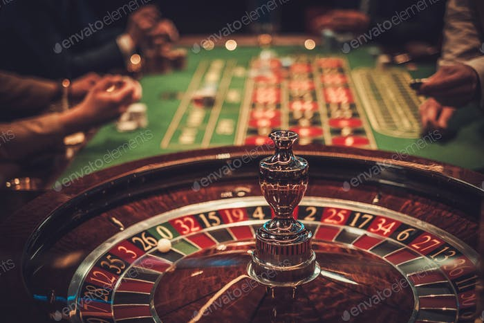 Gambling table in luxury casino