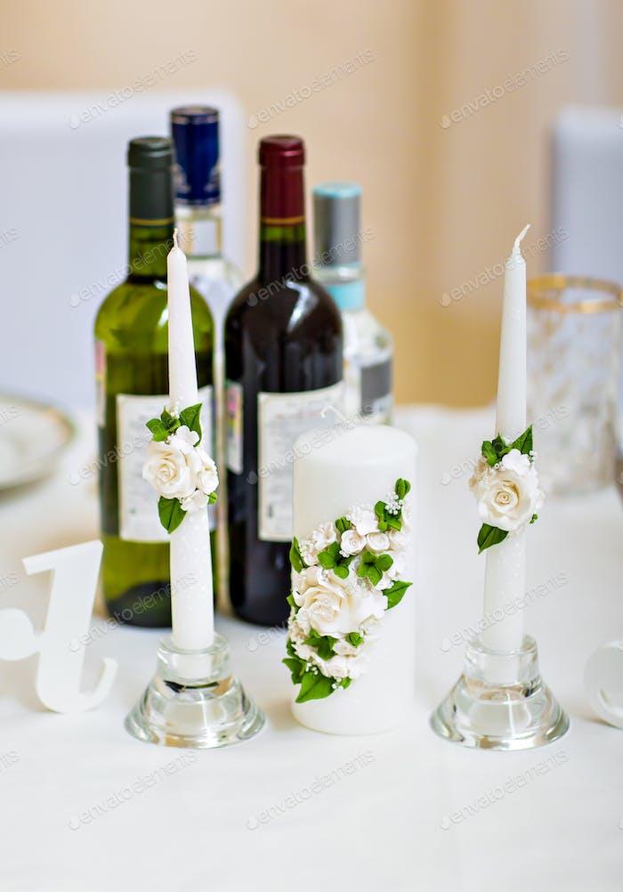 Tischset für eine Eventparty oder Hochzeitsempfang